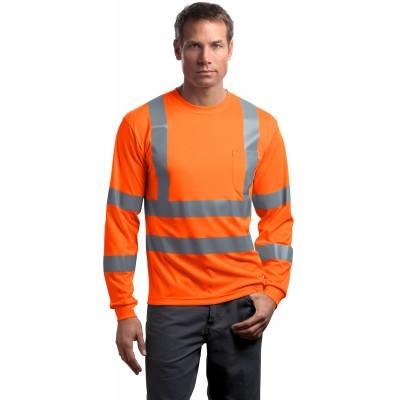 CornerStone - ANSI 107 Class 3 Long Sleeve Snag-Resistant Reflective T-Shirt. CS409