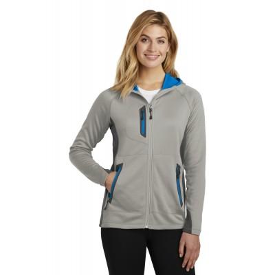 Eddie Bauer Ladies Sport Hooded Full-Zip Fleece Jacket. EB245